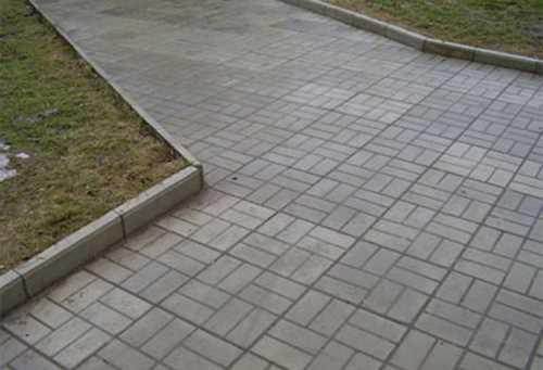 Тротуарная плитка - восьмерка