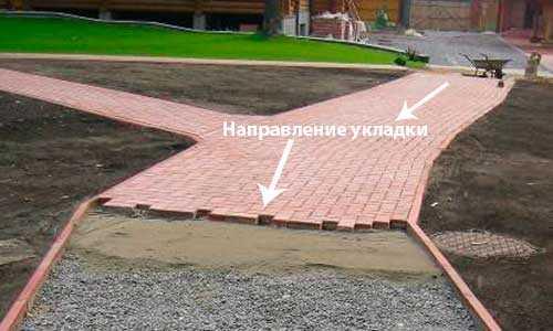 Обеспечение уклона тротуарной плитки
