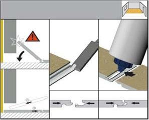 Установка плиты под препятствием - схема
