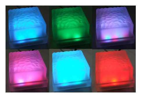 Варианты расцветок светодиодной плитки